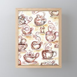 Coffee chatter Framed Mini Art Print