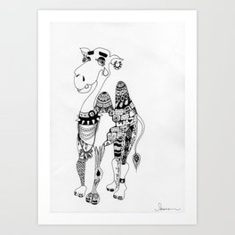 Camille the Capricious Camel Art Print