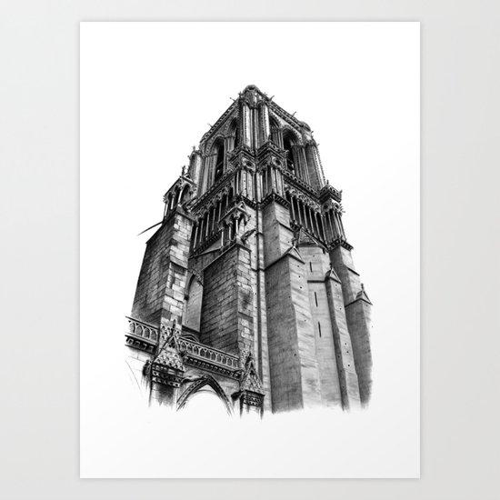 Notredame Paris Art Print
