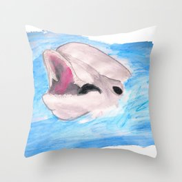 The smiling Dolphin Throw Pillow