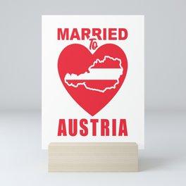 married to austria married to austria berg Mini Art Print