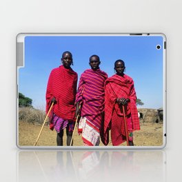 3 African Men from the Maasai Mara Laptop & iPad Skin