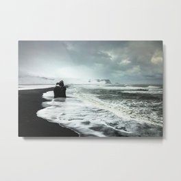 Black Sand beaches in Iceland Metal Print