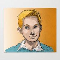 tintin Canvas Prints featuring Tintin by Zalazny