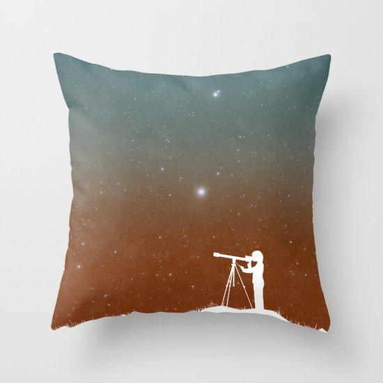 Through the Telescope Throw Pillow