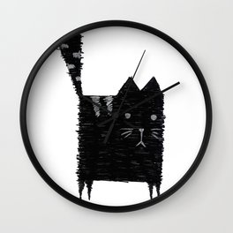 Malevich Cat Wall Clock