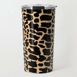 ANIMAL PRINT SNAKE SKIN TAN BROWN AND BLACK PATTERN Travel Mug