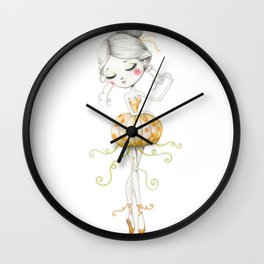 The Pumkin Ballerina Wall Clock