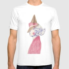 A Touch of Pink Mens Fitted Tee MEDIUM White
