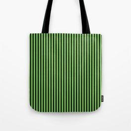 Green Flash and Black Stripes Tote Bag