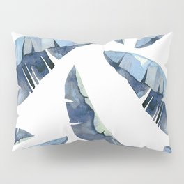 Banana Leaves 2 Blue Pillow Sham