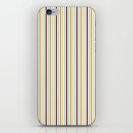 Burgundy yellow mint green geometrical stripes iPhone Skin