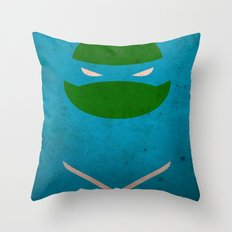 TMNT Leo poster Throw Pillow