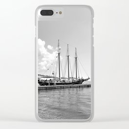 Ship on the York River in Yorktown Virginia Clear iPhone Case