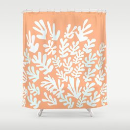 """Collage of Leaves, #12,""""Aflame"""" by Henri Matisse Shower Curtain"""