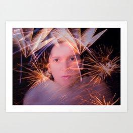 Fuegos artificiales Art Print