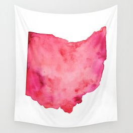 Red Ohio Wall Tapestry