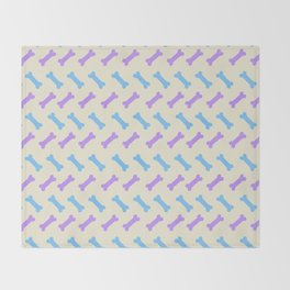 Herring 'bone' – Pastel Throw Blanket