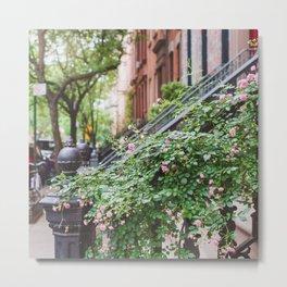 West Village Summer Blooms Metal Print