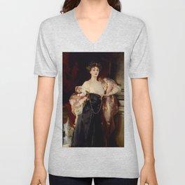 Lady Helen Vincent by John Singer Sargent Unisex V-Neck
