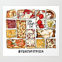 Feast of St. Pizza: Old Forge Edition Art Print