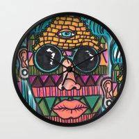 illuminati Wall Clocks featuring IllUmiNaTi by CREATOROFARTS