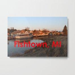 Fishtown -Leland, Michigan - Sunset Metal Print