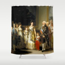 "Francisco Goya ""Charles IV of Spain and His Family (La familia de Carlos IV)"" Shower Curtain"