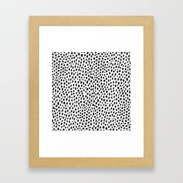 Dalmatian Spots (black/white) Framed Art Print