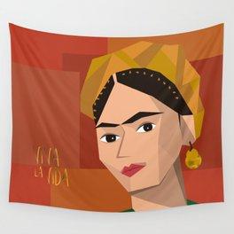 Frida Khalo Cubism Edition 2 Wall Tapestry