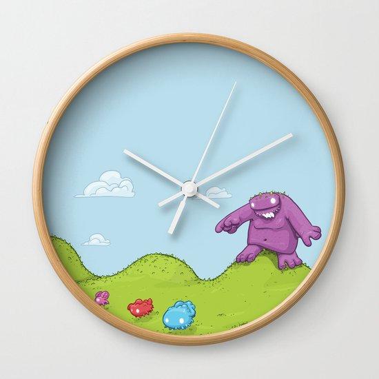 Marshmallow Hunting Wall Clock