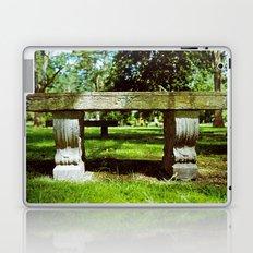 Cemetery bench Laptop & iPad Skin
