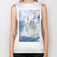 fairytale Biker Tanks featuring Fairytale Castle by Simone Gatterwe