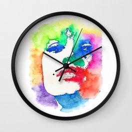 Stencil Watercolor Portrait | Stencil Portrait Watercolor Art Wall Clock