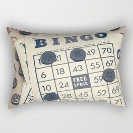Vintage Bingo Board Game 3 Rectangular Pillow