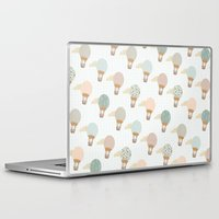 baloon Laptop & iPad Skins featuring baloon collage pattern  by flying bathtub