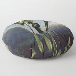 Robert Thornton - Carnivorous pitcher plant Floor Pillow