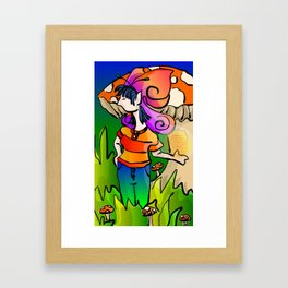 Shroom Fairy Framed Art Print