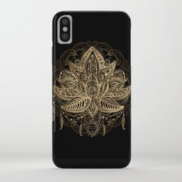 Lotus Black & Gold iPhone Case