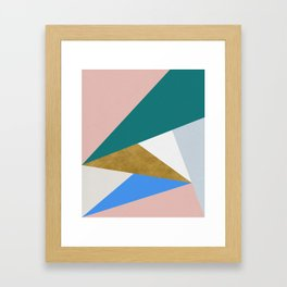 Contemporary Triangle Digital Print Framed Art Print