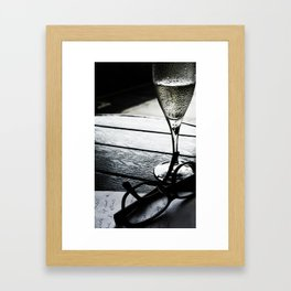 Spectacles and Champagne Framed Art Print