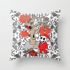 SANTA'S RED BIRD Throw Pillow
