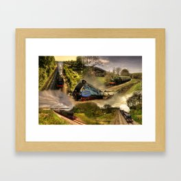 Devon Steam  Framed Art Print