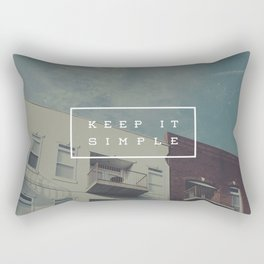 Keep It Simple Rectangular Pillow