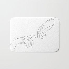 Finger touch Badematte