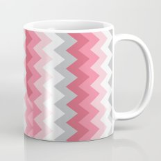 Chevron Pink & Grey Mug