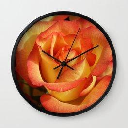 Rose OrangeYellow 2 Wall Clock