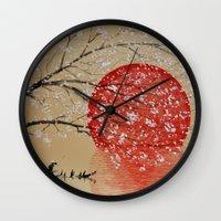 japan Wall Clocks featuring Japan by Japan Art