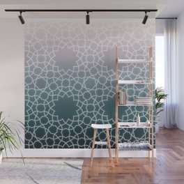 Islamic Pattern on Blue Gradient Wall Mural