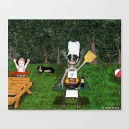 Corky the Grillman Canvas Print